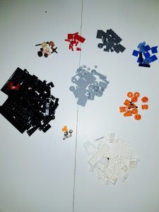 Lego Women of NASA gesorteerd